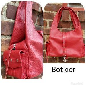 Botkier pebbled leather red shoulder bag